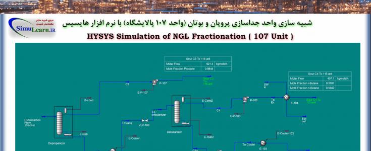 شبیه سازی واحد جداسازی پروپان و بوتان (Unit 107 NGL Fraction) با نرم افزار هایسیس