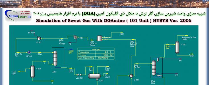 شبیه سازی واحد شیرین سازی گاز با دی گلیکول امین DGA در هایسیس